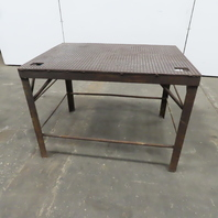 """3/8"""" Thick Top Steel Fabrication Welding Table Work Bench 40x29-3/4x28-1/2"""" High"""