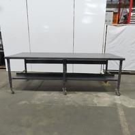 "120x48x40"" Welding Layout Work Table Bench 12Ga Steel Top W/Casters"