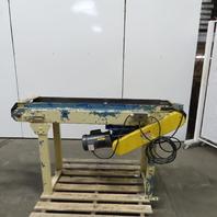 """Adjustable Incline/Decline Slide Bed Conveyor 12"""" Belt 33FPM 63"""" OAL 115V 1Ph"""