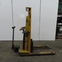 """Big-Joe 2024-A5 2000LB Cap Manual Push Straddle Pallet Lift Stacker 60"""" Lift 12V"""
