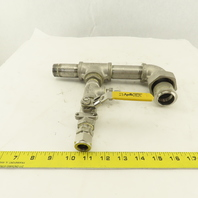 """1/2"""" 1"""" Stainless Steel Misc. Fittings Valve Tees Elbow Assembly"""
