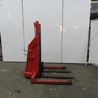 """Mobil 1500LB Cap Manual Push Straddle Pallet Lift Stacker 57-1/2"""" Lift 12V"""