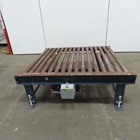 "Power Roller Case Pallet Conveyor 52""BF x 60""L x 18-1/2"""