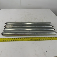 """Dematic 2-1/2"""" OD 28"""" BF 30"""" OAL Galvanized Gravity Conveyor Roller Lot Of 4"""