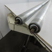"1.90"" OD 58"" BF 59"" OAL Galvanized Gravity Conveyor Roller Lot Of 2"