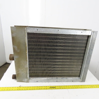 """25 x 32-1/2"""" 2 Row 5/8"""" Tube Heating Cooling Steam Coil Heat Exchanger"""