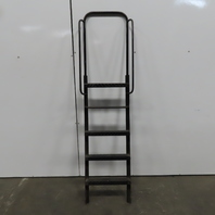 "5 Step Custom Industrial Machine Ladder 51"" to top step 19""Wx81"" OAH"