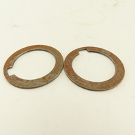 """1-1/4"""" Keyed Shaft Spacer Backup Washer For 5/16"""" Key 0.0640 Thick Lot Of 2"""