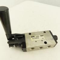 Parker 422CR011W 5/2 Position Manual Pneumatic Spool Directional Valve 1/4 NPT