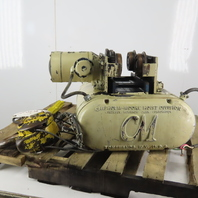 CM Chisholm-Moore 5815 1-1/2 Ton Electric Hoist Wire Rope 20' Lift W/Pwr Trolley