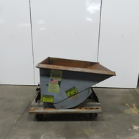 Jesco 1/2 Cubic Yard 5000 lb Self Dumping Trash Chip Scrap Hopper W/Castors