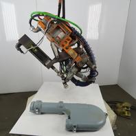 "RoMan Tolomatic TRU79BX Water Cooled Spot Welder 8"" Throat Servo Controlled 650V"