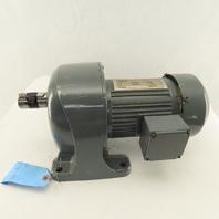 GTR 120:1 Ratio 14.25 RPM Output 220V 0.4kW 3Ph Inline Gear Motor