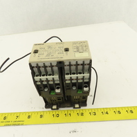 Siemens 3TD4102-2B 600V 10Hp MAX Reversing Magnetic Contactor 24VDC Coil