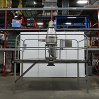 Stainless Steel Vacuum Cyclone Dust Collector Batch Hopper W/Mez