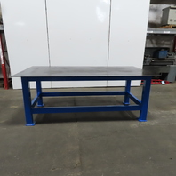 """3/8 Thick Top Steel Fabrication Welding Layout Table Work Bench 96""""x48""""x36"""""""