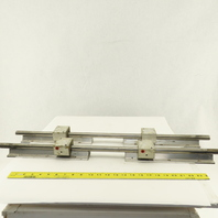 "Star 20mm Linear Guide Rail Bearing Block Assemblies 31"" OAL Lot Of 2"