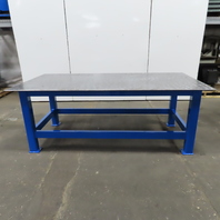 """1/2"""" Thick Top Steel Fabrication Welding Layout Table Work Bench 96""""x48""""x36"""""""