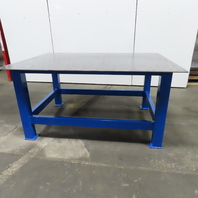 """3/8 Thick Top Steel Fabrication Welding Layout Table Work Bench 53""""x73""""x36"""""""
