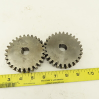 """3-3/4"""" Pitch Diameter 28 Tooth 3/4"""" Bore Spur Gear Lot Of 2"""
