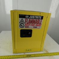 Justrite 4 Gallon Capacity Flammable Liquid Storage Cabinet Self Closing Door