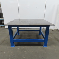 """1/2"""" Thick Top Steel Fabrication Welding Layout Table Work Bench 64""""Lx54""""Wx36""""H"""