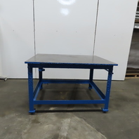"""1"""" Thick Top Steel Fabrication Welding Layout Table Work Bench 60""""Lx48""""Wx38""""H"""