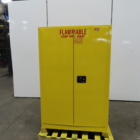 """Securall Flammable Safety 2 Shelf Storage Cabinet 2 Door 43""""Wx34""""Dx65""""T"""