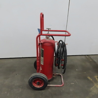 Badger 50MB ABC Dry Chemical Stored Pressure 50lb Wheeled Fire Extinguisher