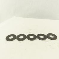"2-1/4"" OD Black Oxide Flat Washer 15/64"" ID Hole Lot Of 5"