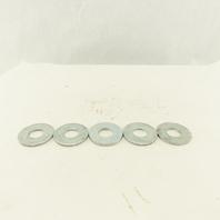 "2-1/4"" OD Zinc Flat Washer 15/64"" ID Hole Lot Of 5"