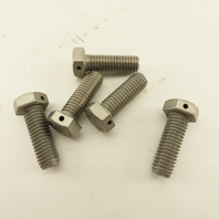 """1/2-13 S30400 304 SS Safety Wire Drilled Head Bolt 1-1/2"""" Thread Length Lot Of 5"""