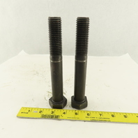 """1""""-8 x 7-1/2"""" Course Thread Hex Head Retaining Ring Groove Bolt Lot of 2"""
