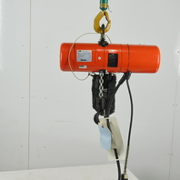 CM Lodestar Model F 1/2 Ton Electric Chain Hoist 10' Lift 16 FPM 115V 1Ph