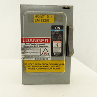 Siemens F-351 Series A Type 1 30A 3 Pole Fused Disconnect Switch