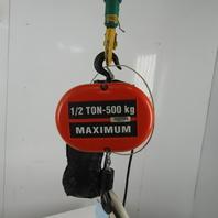 CM Lodestar Model L 1 Ton Electric Chain Hoist 15' Lift 16FPM 460V 3Ph W/Trolley