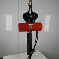 CM Lodestar Model RR 2 Ton Electric Chain Hoist 15' Lift 16 FPM 460V W/Trolley