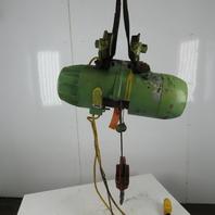 P&H ZIP-LIFT 1 Ton  Wire Rope Electric Hoist 15' Lift 20FPM 460V 3Ph W/Trolley