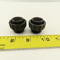 AMP 206037-1 CPC Series 1 Thermoplastic 16 Contact Circular Connector Lot Of 2