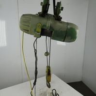 P&H ZIP-LIFT 1 Ton  Wire Rope Electric Hoist 15' Lift 13 FPM 460V 3Ph W/Trolley
