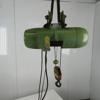 P&H ZIP-LIFT 1/2 Ton  Wire Rope Electric Hoist 15' Lift 28FPM 460V 3Ph W/Trolley