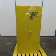 Eagle 1962 Flammable Liquid Storage Safety Fire Cabinet 60 Gallon 2 Door Yellow