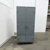 """Strong Hold 4 Shelf Industrial Tool Parts Double Door Storage Cabinet 36x20x78"""""""