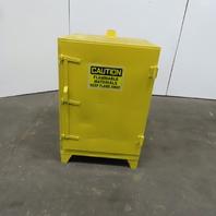 "28""x28""x43"" Flammable Liquid Storage Safety Fire Cabinet Single Door Yellow"