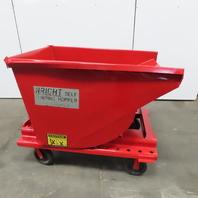 Wright 1/2 Cubic Yard Self Dumping Trash Chip Scrap Hopper W/Castors