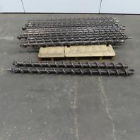"Carbon Steel Conveyor Auger Screw 4"" Diam x 4-1/2"" Pitch x 65"" Long Lot of 14"