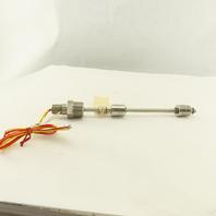 "Gems Sensors LS-700 Vertical Float Liquid Level Switch 12"" OAL Stainless Steel"