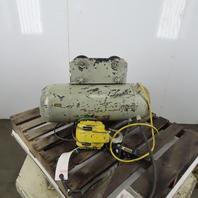 CM Chisholm-Moore 1-1/2 Ton Electric Hoist Wire Rope 480V 3Ph 15' Lift 18FPM