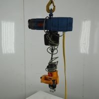 Demag DKM1-125 K V2F4 Electric Hoist 10' 2 Speed Lift 14/55 FPM 460V 3Ph
