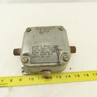 "Killark 204A Electrical Junction Hazardous Location 4x4 Box 1/2"" Hubs"